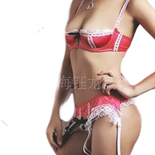 Low-cut Lingerie Super Sexy Costume Women Erotic Intimate Nice Underwear for Female Lace Underclothes Lady Inside Clothes CA402