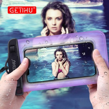 GETIHU Universal Waterproof Bag Pouch Phone Case For iPhone X 8 7 6 5 Samsung S8 Note 8 Huawei P10 Xiaomi Redmi Water Proof Case
