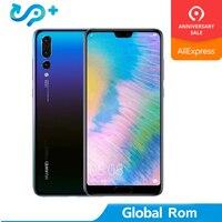 Глобальный Встроенная память HuaWei P20 Pro 4G LTE мобильный телефон Kirin 970 Android 8,1 6,1 дюйма, разрешение Full Экран 2440x1080 6 ГБ Оперативная память 256 ГБ Встр