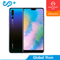 Global Rom HuaWei P20 Pro 4G LTE Mobile Phone Kirin 970 Android 8.1 6.1 Full Screen 2440x1080 6GB RAM 256GB ROM NFC 40.0MP IP67