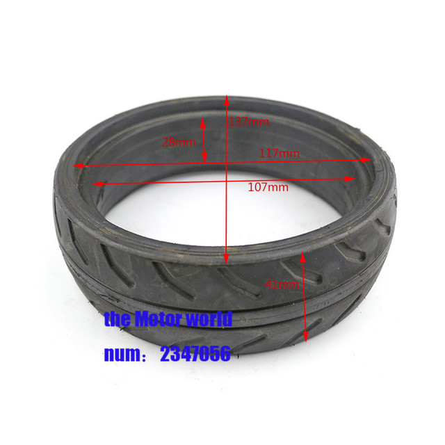 Free Shipping 5 Inch Solid Tire Fits Electric Balanced Car Scooter Baby Carrier