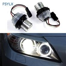 FSYLX 10 Вт Автомобильный светодиодный Маркер СВЕТОДИОДНЫЙ ангельские глазки для BMW E39 E53 E60 E61 E63 E64 E65 E66 E87 canbus светодиодный гало кольца лампа светодиодный ангельские глазки