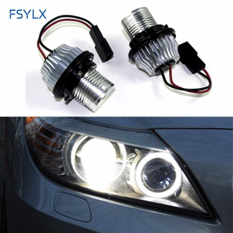 FSYLX 10W Car LED Marker LED Angel Eyes for BMW E39 E53 E60 E61 E63 E64 E65 E66 E87 canbus LED halo rings bulb angel eyes E39