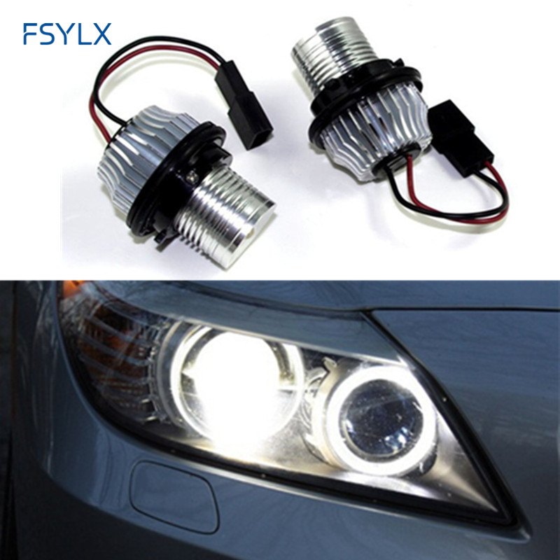 FSYLX 10W Car LED Marker LED Angel Eyes for BMW E39 E53 E60 E61 E63 E64 E65 E66 E87 canbus LED halo rings bulb LED angel eyes арбалет архонт