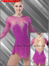 purple ice skating suits hot sale new brand purple figure skating dress custom ice skating dress