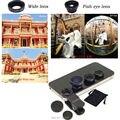 Clip Universal 3 en 1 de gran angular Macro Fisheye lente para teléfonos móviles para el iPhone 6 5 5S 4 4S Samsung HTC Nokia envío gratis