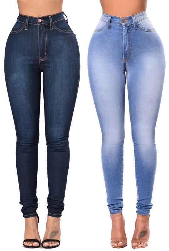 1a188c898 ... LEDINGSEN Blue High Stretch Skinny High Waisted jeans Women Slim  Designer Best High Rise Denim Boyfriend ...
