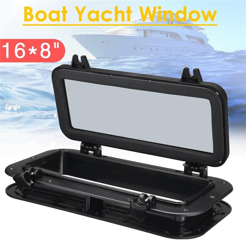 1 Pc 40x20 cm noir bateau bateau Yacht voiture remplacement hublot rectangulaire étanche en caoutchouc joint puits de lumière couverture RV fenêtre pièces