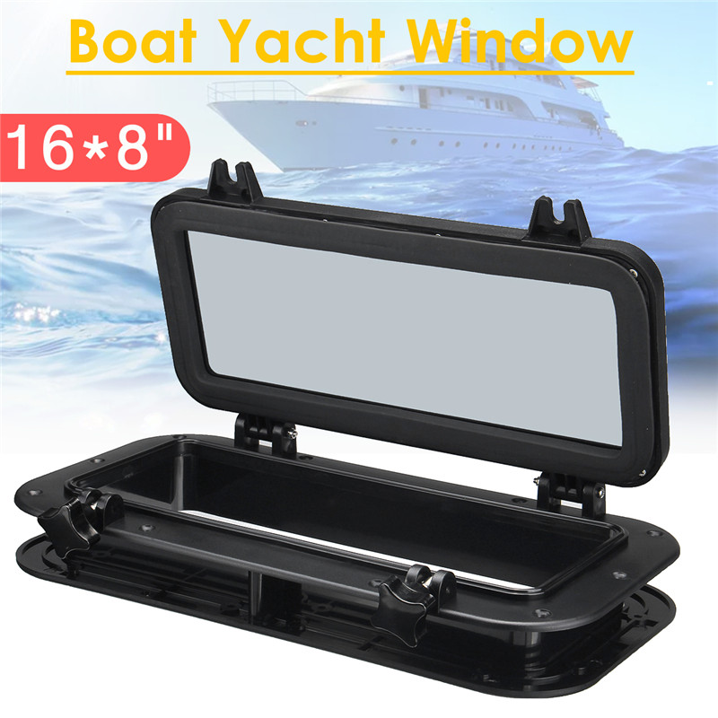 1 Pc 40x20cm Black Boat Ship Yacht Car Replacement Porthole Rectangular Waterproof Rubber Seal Skylight Cover RV Window Parts-in RV Parts & Accessories from Automobiles & Motorcycles    1