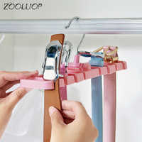 Plastic Rotating Tie Scarf Hanger Holder Home Storage Rack Tie Belt Closet Organizer Wardrobe Finishing Rack Space Saver