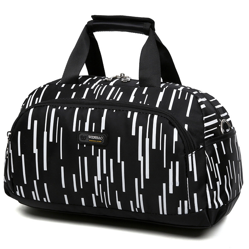 NIYOBO Large Capacity Nylon Waterproof Travel Bag Totes Striped Unisex ladies Luggage Duffel Handbag Weekend Bags Bolsa Viagem