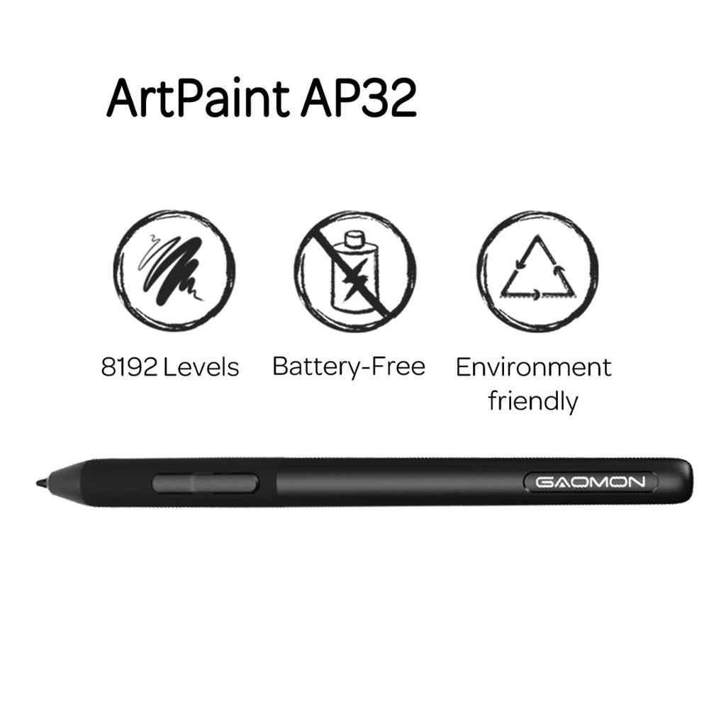 Gaomon Artpaint AP32 Pin 8192 Mức Thụ Động Stylus Chỉ Cho Đồ Họa Máy Tính Bảng S620