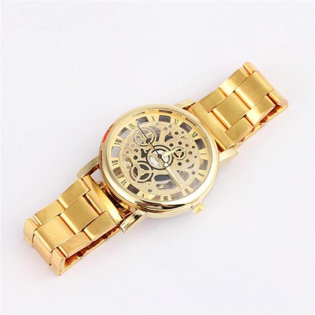 2018 NEW  Relogio Masculino Watch Men Fashion Men Steel Strip Mechanical Gear Watch Analog Watch Wholesale Dropshipping