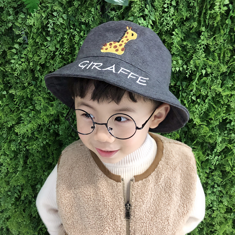 2019 New Fashion Kid Bucket Hat Animal Embroidery Fisherman Hat Boys Girls Summer Outdoor Sun Cap free shipping in Men 39 s Bucket Hats from Apparel Accessories