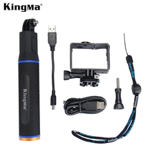 KingMa For GoPro Accessories Double Expanded Frame Mount Protective Housing Case + Battery Rechargeable Monopod For Gopro Hero