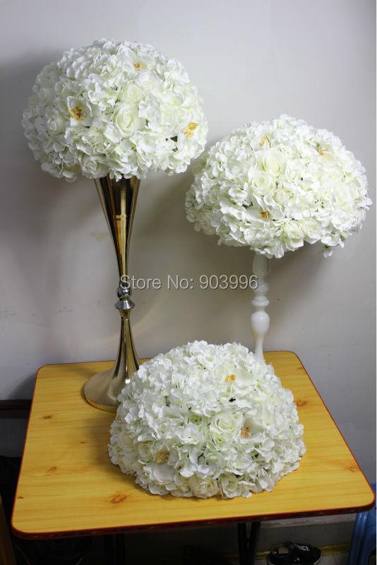 SPR Nuevo !! camino de la boda flores de hortensia flor candelabro mesa centro de mesa flor decoratio envío gratis pared de la flor
