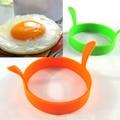Caliente 1 unid Color aleatorio DIY redondo desayuno silicona huevo moldes panqueques utensilios de cocina accesorios de cocina