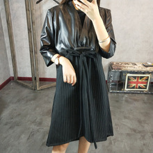 2019 New Fashion Genuine Sheep Leather Dress Y4