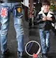 Зима детская одежда Корейской версии толстые теплые брюки мальчик штаны детей джинсы ребенок