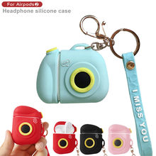 Earphone Protective Case Silicone Anti-lost Protective Cover Skin Case For Apple Air-Pods Charging Case For Bluetooth Headset#G1(China)