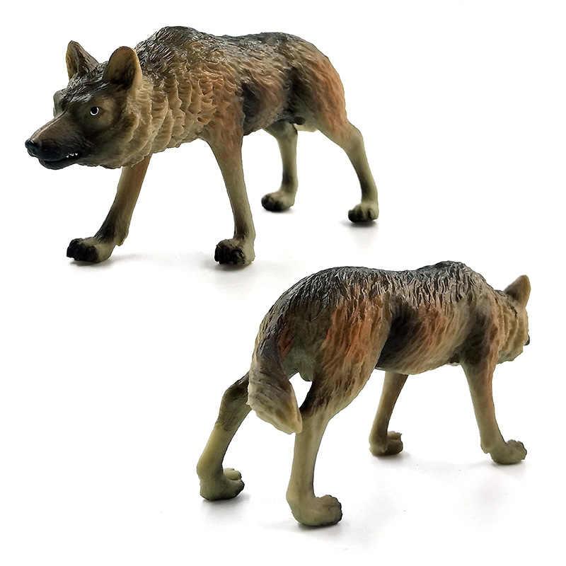 Lobo Ovelhas Simulação modelo Animal estatueta decoração de casa acessórios de decoração moderna figura da estátua do jardim de fadas em miniatura brinquedos