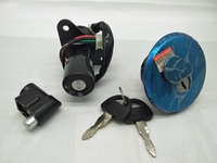 Motorcycle Ignition Switch Lock Kit Fuel Gas Tank Cap Lock Key Fuel Gas Cap Set Ignition Switch 3 Motorbike Ignition Switch Lock