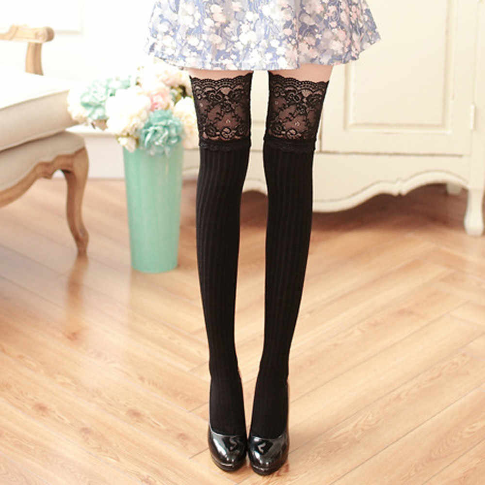 8228ae407a Detail Feedback Questions about Women Girl Winter Over Knee Leg ...