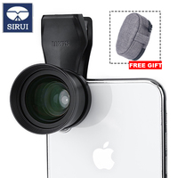Sirui 60 SA 60mm Portrait lens with Aluminum Housing HD 4K Telephoto Lenses for iPhone Max Xs X Pixel 3 Samsung S8 S9 Huawei P20