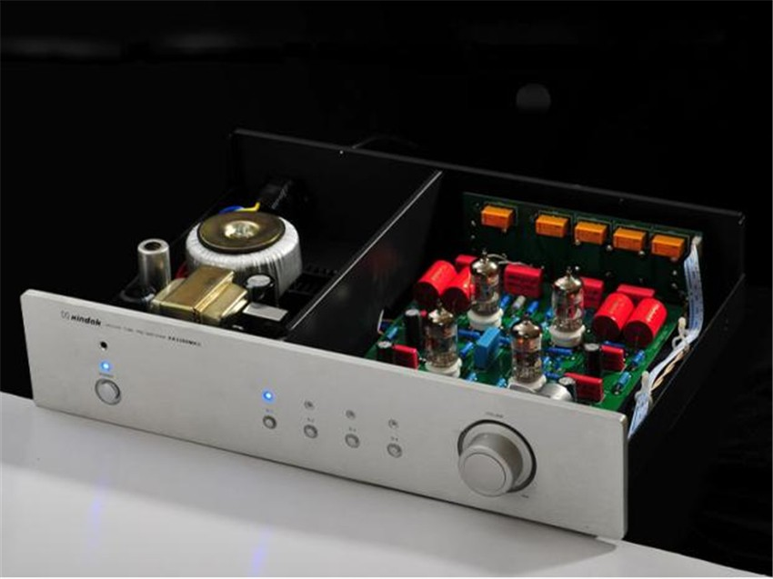 W-003 QUEENWAY HIFI AUDIO XA3200MKII Vacuum Tube Pre Amplifier 12AT7*2, 12AX7*2 Remote Control PRE AMP Input: 1*RCA 2016 lastest xiangsheng 728a vacuum 12at7