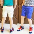 2016 size120 ~ 160 calças dos miúdos das crianças calças de verão para meninos shorts doces azul vermelho branco