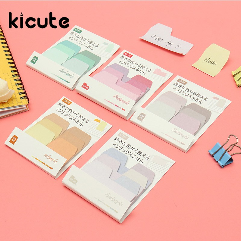 Kicute 1 Set Memo Pads Sticky Notes Cute Colorful Paper Post Daliy Scrapbooking Stickers Office School stationery Bookmark