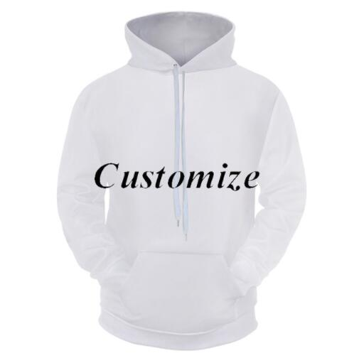 Cloudstyle 2020 3D Customized Hoodies Men Women DIY Customer Pullovers Tops Plus Size 5XL Wholesale Above 5 Pieces Per
