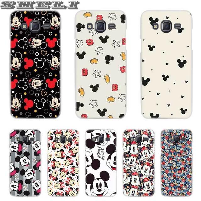 SHELI Đáng Yêu Mickey Mouse Trong Suốt điện thoại Di Động túi đối Với Samsung Galaxy J2 J3 J4 J5 J6 J7 J8 2018 2017 EU 2016 Thủ