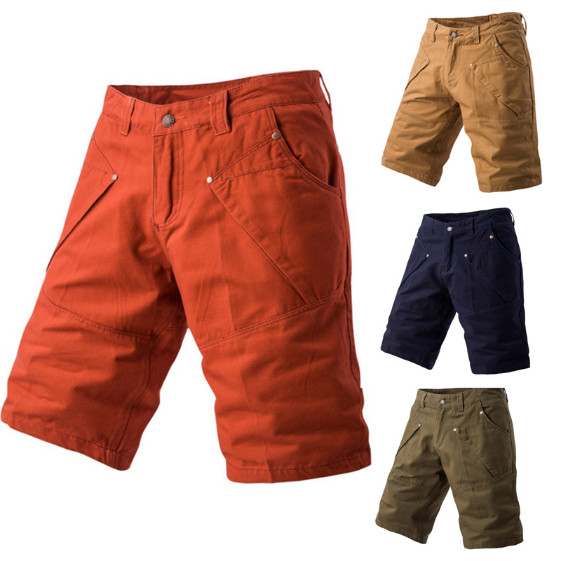 Brand New Mens Shorts 2017 Summer Men Solid Color Multi Pocket Casual Five Short Pants Bermuda Masculina Plus Size