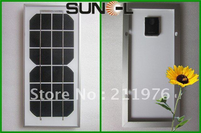 DHL Free Shipping--5W 6V high efficiency MONO Solar Panel, PV module for 3.7V mobile battery charging, DIY solar mobile charger