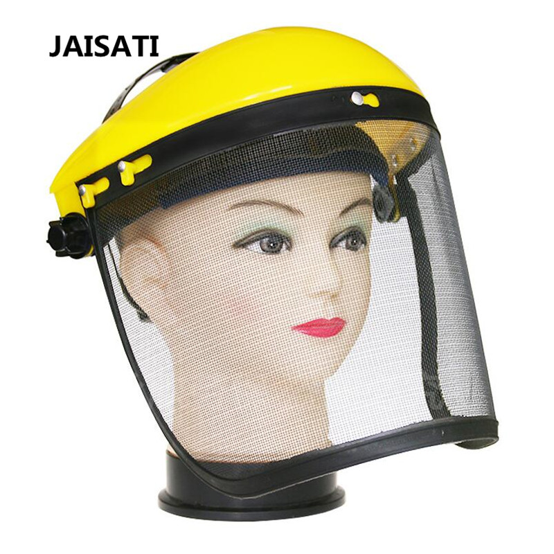 JAISATI Grass protection wire mesh garden anti-splash mask face screen explosion-proof mask mower cap protective masks jaisati transparent dust proof welding hood headset mask abor protection protection surface screen splash mask