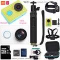 Оригинал xiaomi yi действий камеры 1080 P 60fps 16MP wifi Bluetooth 4.0 Смарт Спорт путешествия Водонепроницаемая Камера дополнительный аксессуар mi