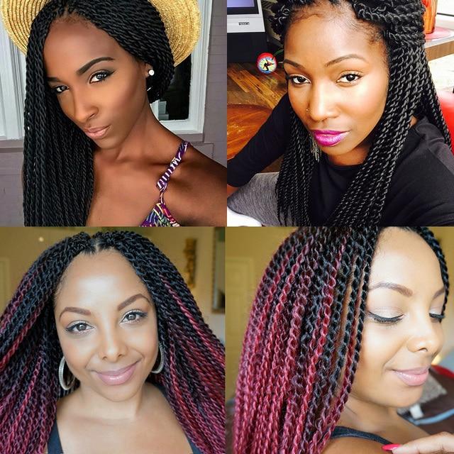 Freetress Crochet Braids Ombre Senegalese Twist Hair 18inch Jumbo