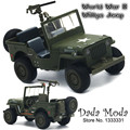 Cool Die-cast Jeep Willys Car model military force alloy cars pull back with light & sound in gift box children's best toys