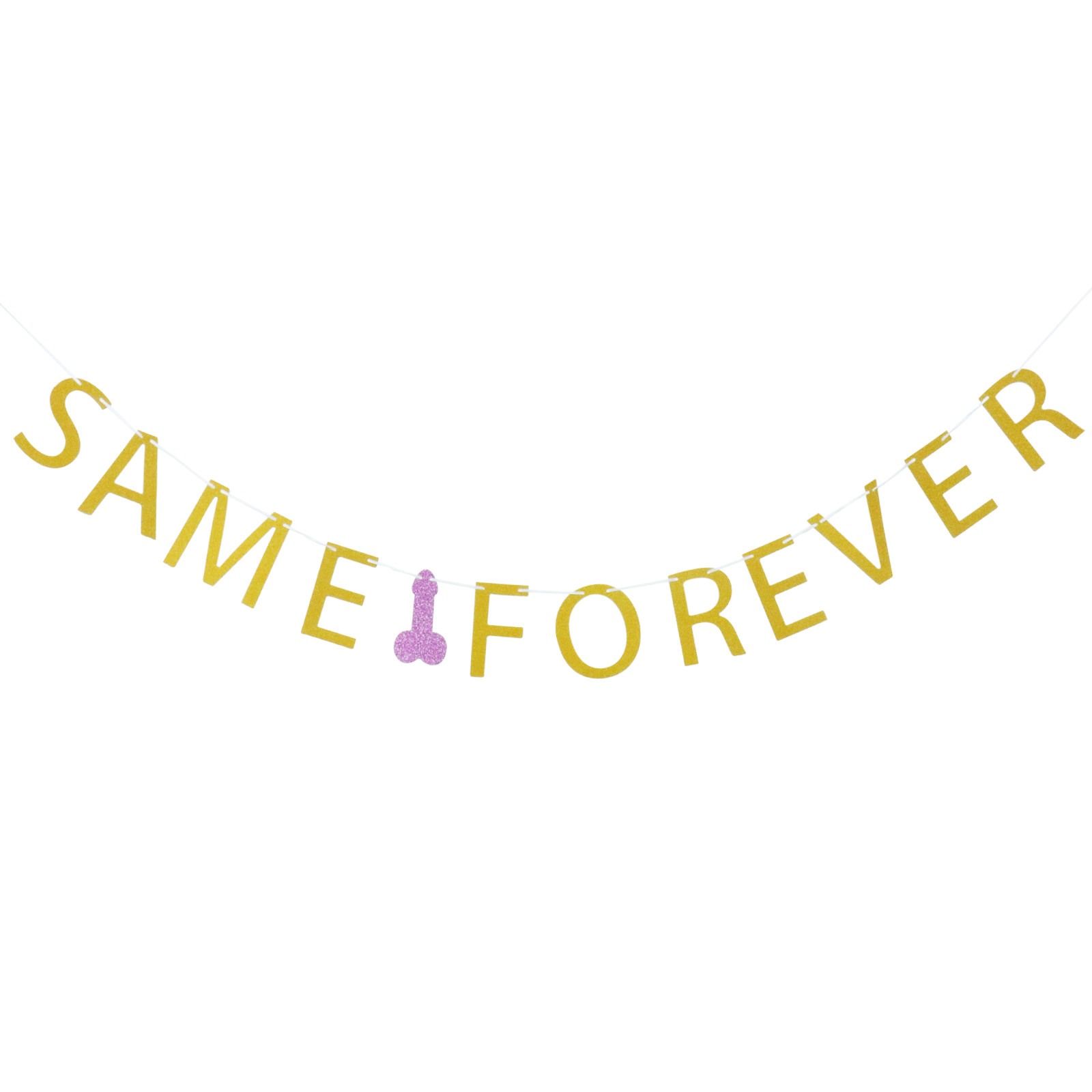 Bachelorette Party Gold Glitter Same Penis Forever Banner Garland Bunting Flags Girls Night Hen Party Decoration Supplies In Party Diy Decorations From Home Garden On Aliexpress