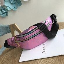 Zippers Waist Pack Funny Bags Women Belt Bag Phone Money Packs Pouch Thigh Purse Fannypack Laser Chest Bum Banana