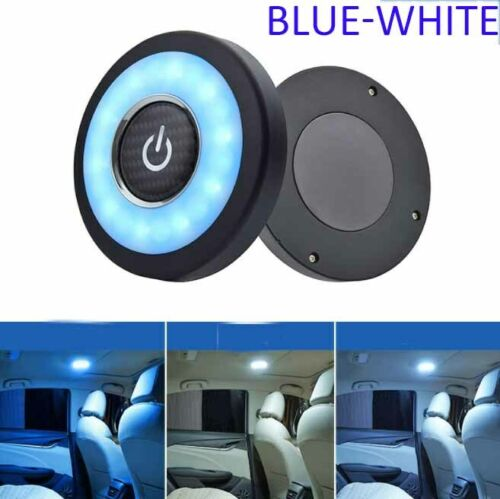 Blue-white Car Reading Interior Light USB Charge Roof Magnet Ceiling Light For Car RV Camper Caravan Universal
