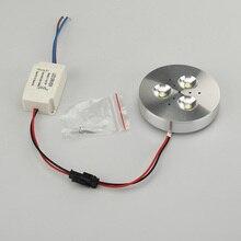 Led Retro Light 3W Super Bright Under Cabinet Puck Bulb 30 Watt Equivalent 110V-240V 3pcs/lot