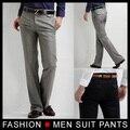 Новых людей тонкая свободного покроя формальные прямые брюки гладкие брюки черный серый размер 28 - 33 бесплатная доставка