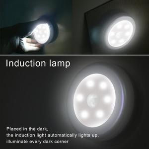 Image 5 - 6Pc 6LED PIR גוף חיישן תנועה הופעל קיר אור לילה אור אינדוקציה מנורת ארון מסדרון ארון led חיישן אורות מנורות