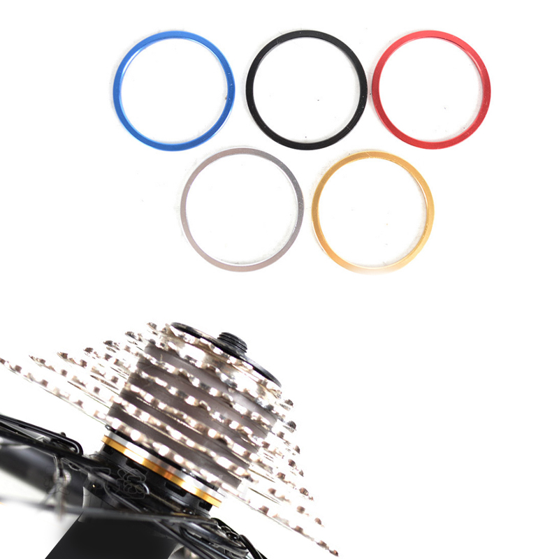 MUQZI 5PCS Road Bike Bottom Bracket Axis Washer BB Flywheel Freewheel Hubs Washers Gasket Mountain Bike Washer Accessories