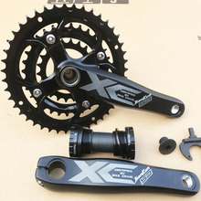 JIANKUN 27 Speed 22/32/44T 170mm MTB bike crankeset Sprocket Chainring Bicycle Crank Set Hollow Tooth Plate Bicycle Crankset shimano fc m4050 t4060 alivio 3x9s speed mtb bicycle crankset 170mm include bb52