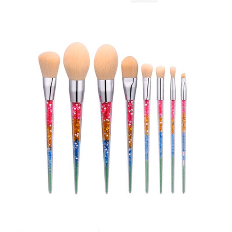 8pcs NEW Techniqueing Makeup Brushes Set Acrylic Diamond Shape Makeup Brushes Synthetic Hair Powder Eyebrow Make Up Brushes