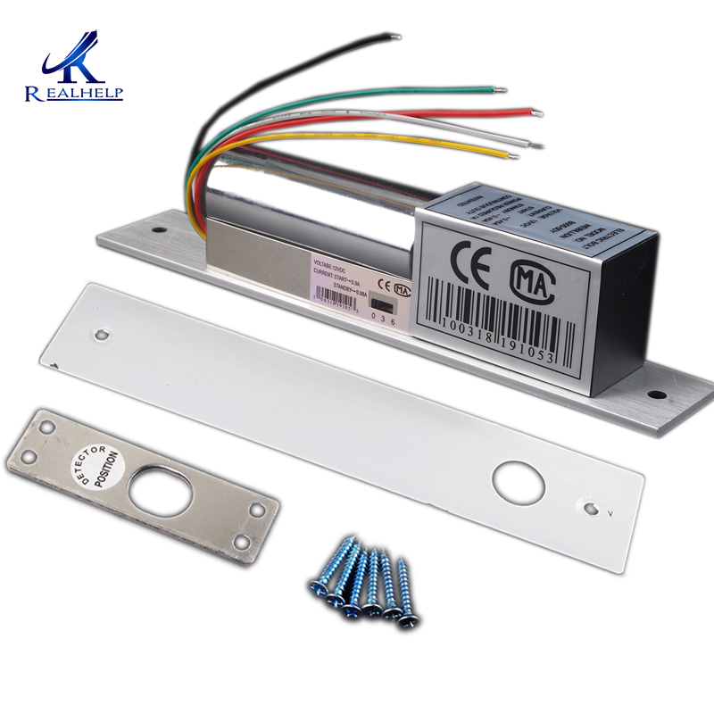 High Quality Low Temperature Auto Electric Door Locks With Timer 5 Wires Electronic Dropbolt Lock With Door Sensor