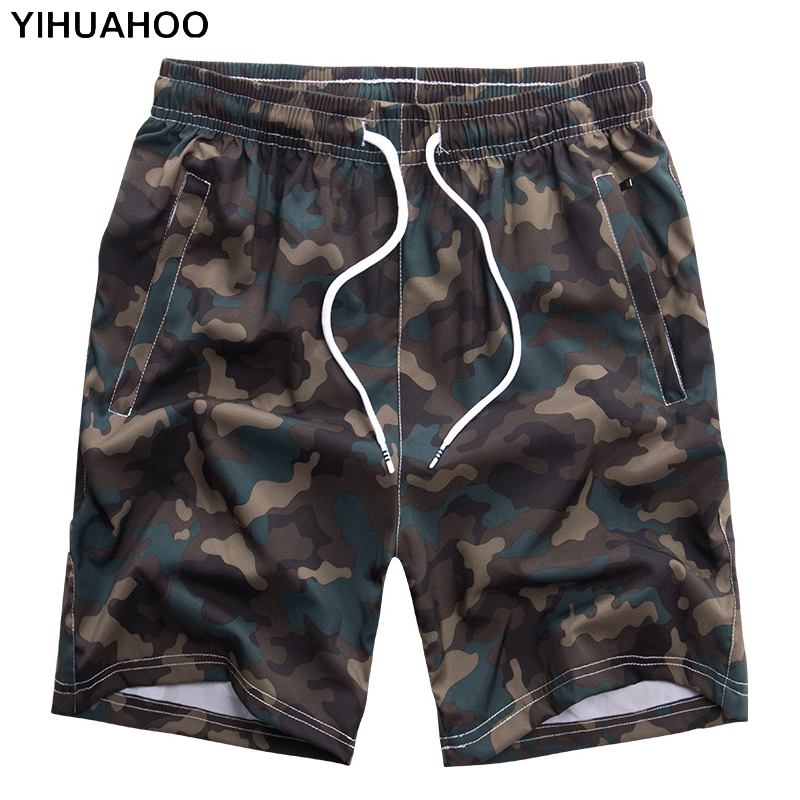 Evan Fordd Men Shorts Cotton Casual Shorts for Men Elastic Waist Summer Beach Shorts